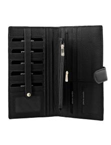 Pierre Cardin Mens Zip Rfid Protected Passport Travel Wallet Italian Leather