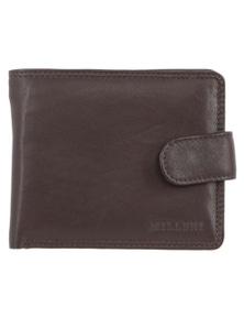 Milleni Mens Leather Bi-Fold Tab Wallet