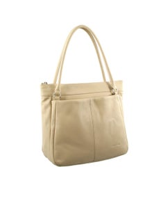 Pierre Cardin Italian Leather Double Handle Tote Handbag