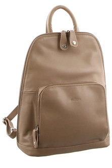 Milleni Leather Twin Zip Taupe Backpack