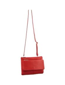 Pierre Cardin Italian Leather Cross-Body Bag With Multi Pockets