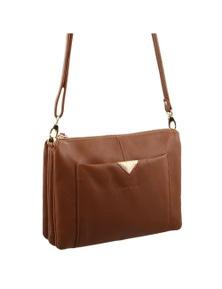 Pierre Cardin Italian Leather 2 tone Cross-Body Bag/Clutch