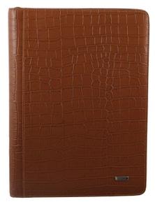 Morrissey Croc Embossed Structured Leather Business Compendium/Folio