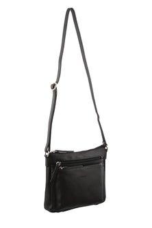 Milleni Leather Black Cross Body Bag