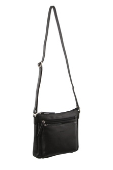 Milleni Leather Black Cross Body Bag