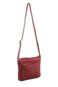 Milleni Leather Red Cross Body Bag