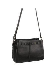 Pierre Cardin Italian Leather Cross Body Handbag With Front Detail