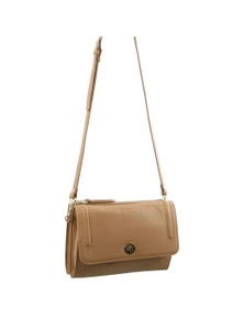 Pierre Cardin Italian Leather Cross-Body Bag/Clutch With Flap