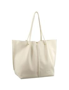 Pierre Cardin Italian Leather Tote Handbag Pleat design