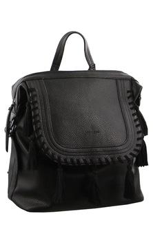 Milleni Flap Closure Black  Backpack