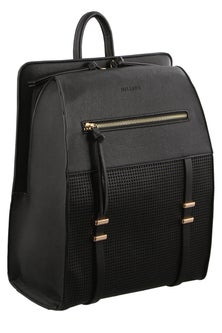 Milleni Perferated Detail Black Backpack