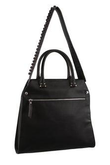 Milleni Strap Detail Cross body Black Handbag