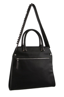 Milleni Strap Detail Cross body Black Handbag