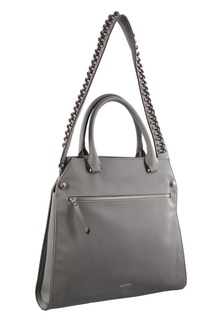 Milleni Strap Detail Cross Body Grey Handbag
