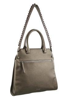 Milleni Strap Detail Cross body Pewter Handbag