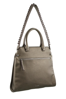 Milleni Strap Detail Cross body Pewter Handbag