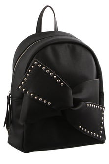 Milleni Bow Detail Black Backpack