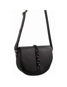 Pierre Cardin Italian Leather Cross Body Bag With Flap Closure