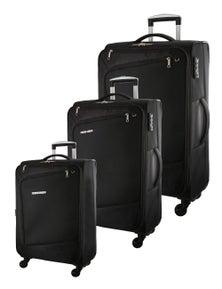 Pierre Cardin Soft Luggage Case Cross Zip- 3 Set