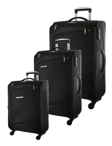 Pierre Cardin Soft Luggage Case Cross Zip- 3 Set