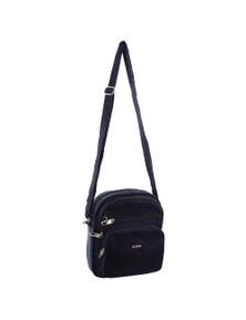 Pierre Cardin Nylon Slash-Proof 3 Front Zip Cross-Body Bag