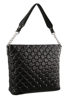 Milleni Stud Detail Black Hobo Bag