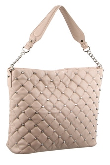 Milleni Stud Detail Blush Hobo Bag