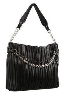 Milleni Pleated Black Hobo Bag