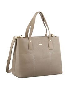 Morrissey Structured Italian Leather Ladies Tote Handbag with Shoulder Strap