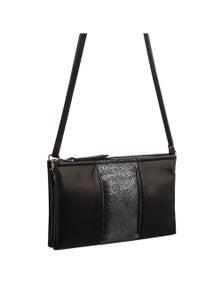Pierre Cardin Italian Leather Cross-Body Panel Bag/Clutch