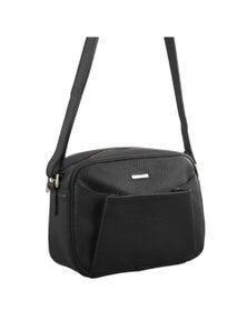 Pierre Cardin Italian Leather Cross Body Bag With Pleat Pocket