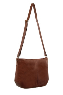 Milleni Leather Chesnut Cross Body Bag