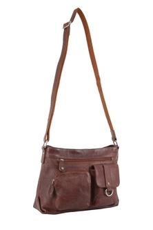 Milleni Italian Leather Chesnut Cross Body Bag