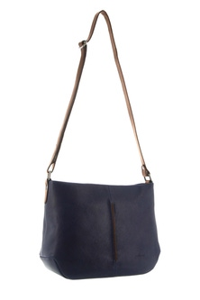 Milleni Leather Two Tone Indigo Cross Body Bag