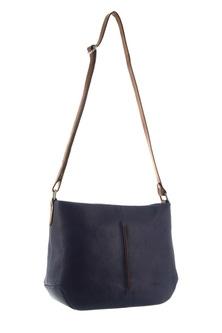 Milleni Leather Two Tone Indigo Cross Body Bag
