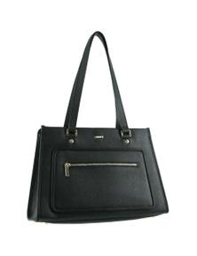 Morrissey Structured Italian Leather Ladies Zip Tote Handbag
