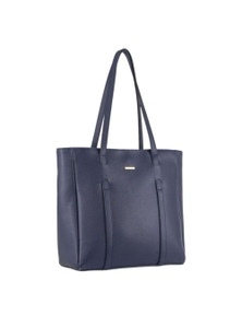 Pierre Cardin Italian Leather Tote Handbag With Front Detail