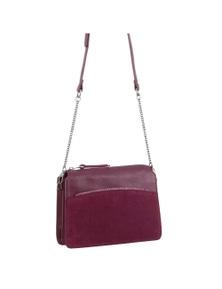 Pierre Cardin Italian Leather Cross-Body Bag With Multi Materials