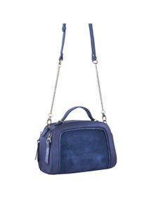 Pierre Cardin Italian Leather Cross-Body Bag/Clutch With Multi Compartments
