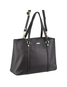 Pierre Cardin Italian Leather Tote Handbag with removable shoulder strap