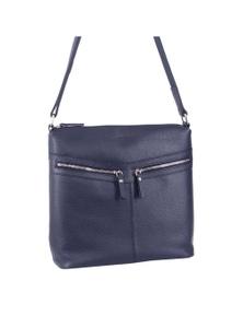 Pierre Cardin Leather Ladies Medium Zip Detail Bag