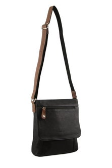 Milleni Leather Multi Compartment Cross Body Bag