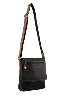 Milleni Leather Multi Compartment Cross Body Bag
