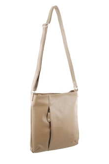 Milleni Leather Zip Compartment Cross Body Bag