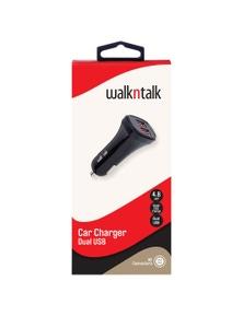 WalkNTalk Car Charger 4.8A - Black And Grey