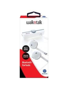 WalkNTalk Bluetooth Earbuds - White