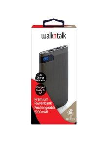 WalkNTalk 5000mAH Powerbank with LED - Grey