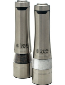 Russell Hobbs Electric Salt and Pepper Mills Grinders Battery Operated Set
