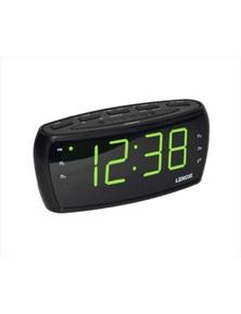 Lenoxx Am/Fm Alarm Clock Radio 1.8Inc Big Large Green Numbers Led Display /Snooze/Sleep