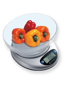 Sansai Digital Glass Kitchen Scale W/ Bowl